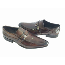 Sapatos Masculino Couro Legitimo Verniz Marca Dml Modas