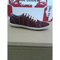Tenis Casual De Couro Nobuck Vinho Doc Shoes