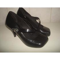 Sapato Melissa Hello Iv Preta C/ Salto - Nº 33/34.