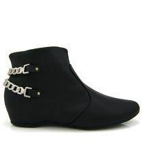 Bota Ankle Boot Vizzano 3043105 - Preta