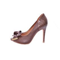 Sapato Miucha Marrom Com Laço