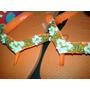 Havaiana Top Infantil Laranja Neon (bordada)