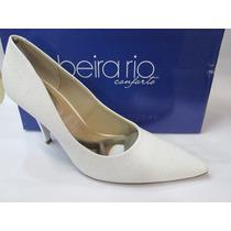 Sapato Beira Rio Conforto Branco Glitter 4122.500