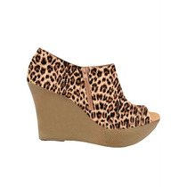 [cld-0027] Ankle Boot Salto Anabela Animal Print