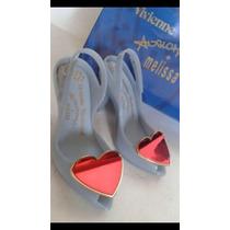 Melissa Lady Dragon Azul Com Coração Vermelho Cromado