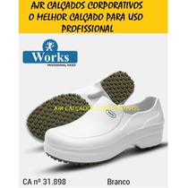 Sapato Botina Segurança Branco Med Work [ Soft Work Crocks ]