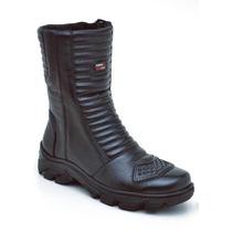 Bota Motociclista Atron Shoes 278 Em Couro