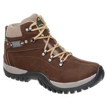 Bota Coturno Adventure Tchwm Shoes Em Couro Nobuck Marrom