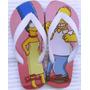 Chinelos Personalizados Simpsons Estampas De Filmes E Séries