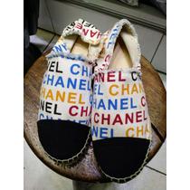 Alpargatas Chanel Flat Camurça Frete Gratis