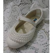 Sapato Infantil Luxo Pérola
