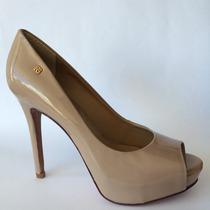 Sapato Feminino Peep Toe Raphaella Booz Em Verniz