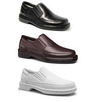 Sapato Masculino Casual Anti-stress Diabéticos Pelica Luxo