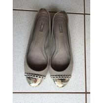 Sapato Elegante Schutz Com Ponta Cromada Semi Novo
