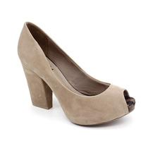 Peep Toe Di Cristalli 7133410 Preto | Pixolé Calçados