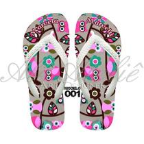 Sandálias Chinelos Havaianas Personalizadas Coruja Owl