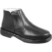 Bota Botina Masculina Confort Antistress Couro Capelli Boots