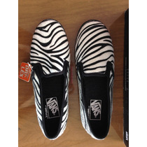 Tênis Vans Slip-on Lo Pro Estampa Zebra Original 37