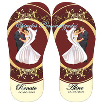 Kit 24 Pares De Chinelos Sandálias Personalizados Casamentos