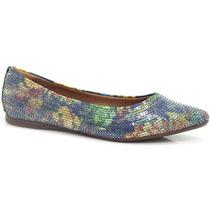 Sapatilha Zariff Shoes Floral Paetê   Zariff