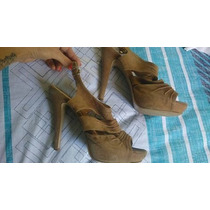 Ankle Boot Sandália Camurça Tam:37 Linda Estilosa