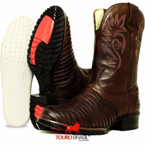 Botina Escrete Cowboy Masculina Cavalgada Exclusiva Tb