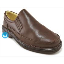 Sapato Masculino Social Casual Confortável Anti Stress Couro