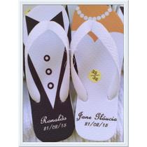 Kit 17 Pares De Chinelos Sandálias Personalizados Casamentos
