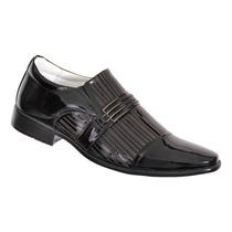 Sapato Social Masculino, Verniz, Couro Legítimo, Lançamento
