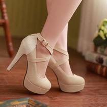 Sapato Feminino Salto Alto Importado Barato