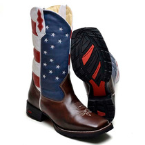 Bota Masculina Texana Country 9031 Café-eua Americana