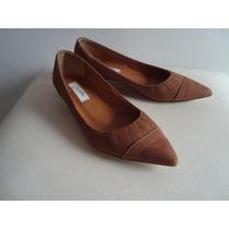 Sapatilha / Sapato Feminino De Nobuck Bico Fino - Jorge Alex