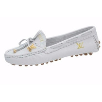 Mocassim Feminino Louis Vuitton Branco - Super Oferta