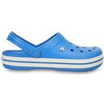 Sandália Crocs Crocband - Azul E Preto - Way Tenis