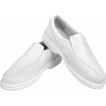 Sapato Branco P/ Médicos Dentistas Enfermeiro Etc Solado Pu