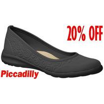 20%off Sapatilha Piccadilly Eco Preta Super Leve 972002