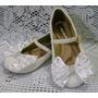 Sapato Infantil Customizado Com Pérolas E Laço 28 Ao 34