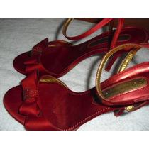 Sandalia De Festa Claudina Nº 37 - Vermelha