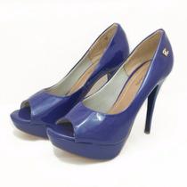Sapato Peep Toe Azul - Nº 36 - Cód: 00000016