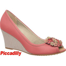 20% Off Peep Toe Anabela Piccadilly 362002 - Rosa
