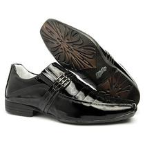 Sapato Envernizado Social Em Couro Leg Ref.72011/ Sapatotop