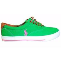 Tenis Polo R Vaughn Shoes Verde Claro Original Frete Grátis