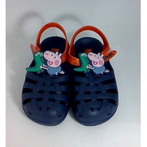 Sandália Infantil Peppa Pig George Original Azul