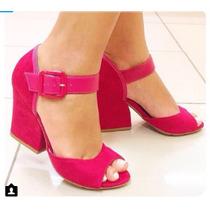 Sandalia Salto Moleca Moda Pink Frete Gratis + Curso Make