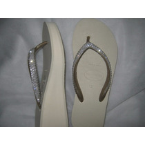 Havaianas High Fashion C/ Swarovski Austríaco Original Noiva