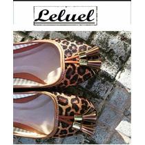Sapatilha Estampa Onça Marca Leluel Shoes Inspiração Arezzo