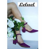 Sapatilha Salto Baixo Marca Leluel Shoes Inspiração Arezzo