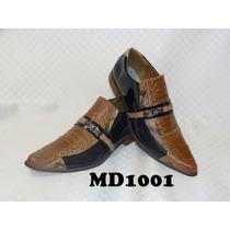 Sapato Masculino Luxo Em Couro Modelos (1001 A 1006)