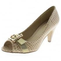 Sapato Peep Toe Luxo