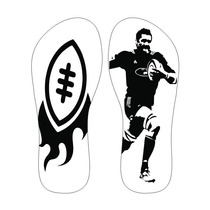 Chinelos Personalizados Esportes Rugby All Blacks